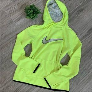 Nike Neon Yellow Pullover Hoodie